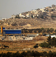 Local entrepreneurs are investing in modern factories, like this one outside Hebron.  Photo:  Palden Jenkins.  paldywan.blogspot.co.uk